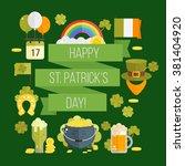 st. patrick's day vector... | Shutterstock .eps vector #381404920