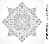 mandala. ethnic decorative... | Shutterstock .eps vector #381405970