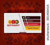 card presentation corporate... | Shutterstock .eps vector #381406414