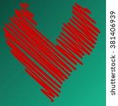 heart illustration icons...   Shutterstock . vector #381406939