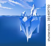 background with iceberg under... | Shutterstock .eps vector #381409750