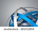 abstract 3d rendering of sphere ... | Shutterstock . vector #381413854