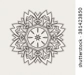 ornate mandala. gothic lace... | Shutterstock . vector #381423850