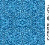 blue ornamental patterns. y  | Shutterstock . vector #381428413