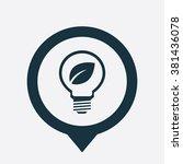 vector eco energy lamp icon | Shutterstock .eps vector #381436078