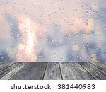 Rain Drop With Defocused Light...