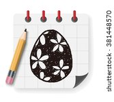 easter egg doodle | Shutterstock .eps vector #381448570