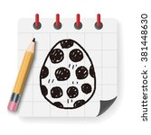 easter egg doodle   Shutterstock .eps vector #381448630