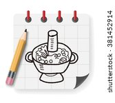 chafing dish doodle | Shutterstock .eps vector #381452914
