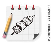 doodle kebab | Shutterstock .eps vector #381453544