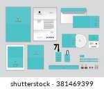corporate identity template for ... | Shutterstock .eps vector #381469399