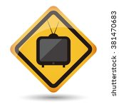 icon televison vector