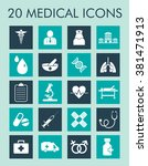 medical and healthcare icons... | Shutterstock .eps vector #381471913