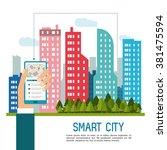 smart city design  | Shutterstock .eps vector #381475594