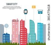 smart city design  | Shutterstock .eps vector #381475618