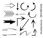 vector hand drawn arrows set ... | Shutterstock .eps vector #381480106
