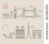 concept of travel or studying... | Shutterstock .eps vector #381481504