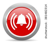 alarm red chrome web circle... | Shutterstock . vector #381482314