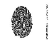 fingerprint. isolated object on ... | Shutterstock .eps vector #381498700