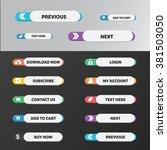 modern web buttons flat design... | Shutterstock .eps vector #381503050