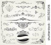 vintage frames and scroll... | Shutterstock .eps vector #381503146