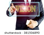 vision   businessman with...   Shutterstock . vector #381506890