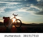 sunset mountain bike trail  | Shutterstock . vector #381517510