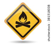 icon campfire area vector | Shutterstock .eps vector #381518038