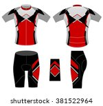 sports cycling clothing fashion ... | Shutterstock .eps vector #381522964