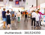 abstract blur people shopping... | Shutterstock . vector #381524350