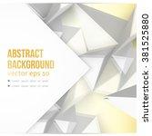 vector background abstract... | Shutterstock .eps vector #381525880