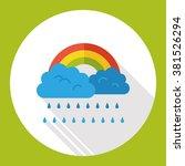 weather raining rainbow flat... | Shutterstock .eps vector #381526294