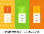 vector set of design elements ... | Shutterstock .eps vector #381528646