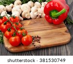 ingredients for cooking healthy ... | Shutterstock . vector #381530749
