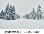 Country Road Covered With Snow...
