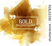 vector beautiful gold satin.... | Shutterstock .eps vector #381537856