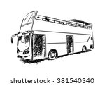 singapore   sightseeing bus hop ... | Shutterstock .eps vector #381540340
