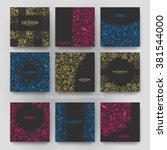 floral ornament vector brochure ... | Shutterstock .eps vector #381544000