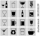 set of simple vector icons... | Shutterstock .eps vector #381553159