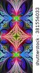 multicolored flower pattern in... | Shutterstock . vector #381556033