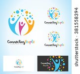 people logo design. unity logo... | Shutterstock .eps vector #381558394