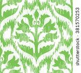 tribal fabric flower pattern... | Shutterstock .eps vector #381570253