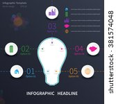 infographic template with... | Shutterstock .eps vector #381574048