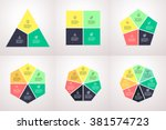 polygonal elements for... | Shutterstock .eps vector #381574723
