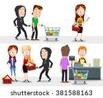 vector cartoon illustration of... | Shutterstock .eps vector #381588163