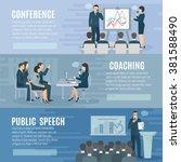 public speech coaching and... | Shutterstock .eps vector #381588490