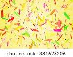 fiesta confetti background | Shutterstock . vector #381623206