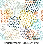 vector abstract seamless... | Shutterstock .eps vector #381624190