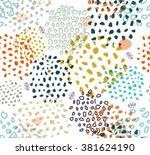 vector abstract seamless... | Shutterstock .eps vector #381624190