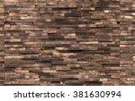 decorative wooden wall... | Shutterstock . vector #381630994